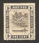 Stamps Asia - Brunei -  río de Brunei