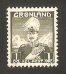 Stamps : Europe : Greenland :  Christian X