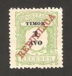 Stamps Asia - East Timor -  timor y valor en negro, con república de abajo a arriba