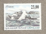 Stamps Europe - Greenland -  Patrullera Tritón