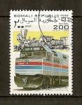 Sellos del Mundo : Africa : Somalia : Trenes / Amirak Diesel Locomotive