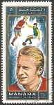 Stamps : Asia : United_Arab_Emirates :  Manama - Denis Law (Escocia), futbolista