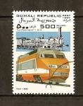 Sellos del Mundo : Africa : Somalia : Trenes /  TGV 1981