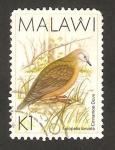 Sellos del Mundo : Africa : Malawi : ave, aplopelia larvata