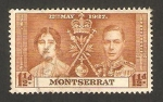Stamps United Kingdom -  Montserrat, coronación de george VI