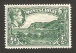 Stamps United Kingdom -  Montserrat, george VI, bahia carrs