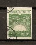 Stamps Asia - Japan -  Avion con sol naciente