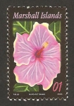 Stamps Oceania - Marshall Islands -  flor, hibiscus, norman lee