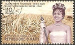 Stamps : America : Haiti :  claudinette forchard,  reina mundial del azúcar 1960