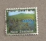 Stamps New Zealand -   Isla Rangi