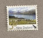 Stamps New Zealand -  Lago Coleridge