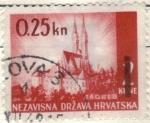 Sellos de Europa - Croacia -  pi CROACIA zagreb 025k
