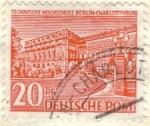 Sellos del Mundo : Europa : Alemania : ALEMANIA 1949 Freimarken: Berliner Bauten - Technische hochschule berlin-charlottenburg 20