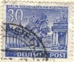 Sellos del Mundo : Europa : Alemania : ALEMANIA 1949 Freimarken: Berliner Bauten - Berlin kolonmaden am kleistpark 30