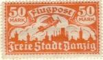 Sellos del Mundo : Europa : Alemania : ALEMANIA 1921 (Y12) Dantzig 50