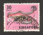 Stamps : Asia : Singapore :  Bailes y máscaras, baile del dragón