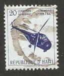 Stamps Haiti -  Ayuda a las víctimas del Ciclón Hazel, helicóptero