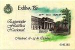 Stamps Spain -  EXPOSICION FILATELICA NACIONAL.  EXFILNA 85