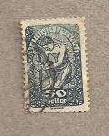 Stamps Austria -  Alegoría nueva república