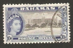 Sellos de America - Bahamas -  elizabeth II, hoteles modernos