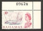 Sellos de America - Bahamas -  elizabeth II, yates
