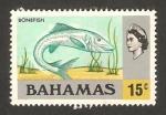 Stamps : America : Bahamas :  elizabeth II, pez bonefish