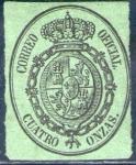 Stamps Europe - Spain -  ESPAÑA 1855 37 Sello Escudo de España Servicio Oficial Nuevo sin goma 4o Espana Spain Espagne Spagna