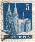Sellos del Mundo : Europa : Alemania : pi ALEMANIA monumentos 1948 5