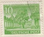 Sellos del Mundo : Europa : Alemania : ALEMANIA 1949 Freimarken: Berliner Bauten - Kolonnaden am Kleistpark, Schoneberg 10