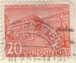 Sellos de Europa - Alemania -  ALEMANIA 1949 Freimarken: Berliner Bauten - Technische Hochschule 20