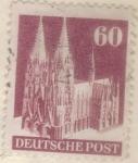 Sellos de Europa - Alemania -  pi ALEMANIA monumentos 1948 60