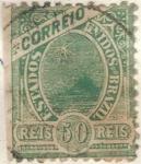 Stamps Brazil -  pi BRASIL estados unidos 50r