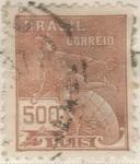 Sellos de America - Brasil -  BRASIL 1920 (RHM187) Vovo - Parte 1 sem filigrana 50r