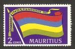 Sellos del Mundo : Africa : Mauricio : independencia, bandera