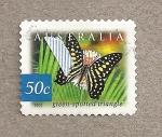 Stamps Australia -  Mariposa moteada en triangulo verde