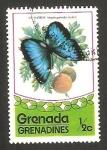 Stamps : America : Grenada :  mariposa morpho peleides insularis