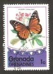 Stamps : America : Grenada :  mariposa danaus gilippus