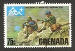 Stamps : America : Grenada :  14º encuentro mundial Noruega 1975, ascensión a la montaña