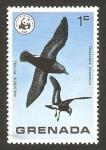 Stamps : America : Grenada :  ave salvaje, petrel