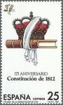 Sellos de Europa - España -  175 aniversario de la constitucion de 1812