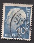 Sellos del Mundo : Europa : Alemania : Tehodor Heuss 1º presidente