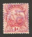 Stamps America - Bermuda -  gran velero
