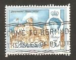Stamps America - Bermuda -  elizabethh II, palacio del gobierno