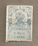 Sellos de Asia - India -  Morvi state