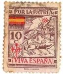 Sellos de Europa - España -  Por la patria (Viva españa)