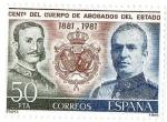 Sellos del Mundo : Europa : España : Centenario cuerpo de abogados del estado 1881 1981