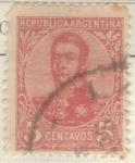 Sellos del Mundo : America : Argentina : ARGENTINA 1908 (MT137) San Martin en ovalo 5c