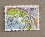 Stamps India -  Centro entrenamiento postal Bangko3,8