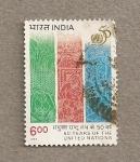 Sellos de Asia - India -  50 Aniv. Naciones Unidas