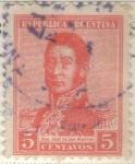 Sellos de America - Argentina -  ARGENTINA 1917 (MT217) San Martin 5c